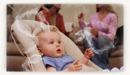Влияние пассивного курения на ребенка