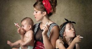 влияние курения мамы на ребенка