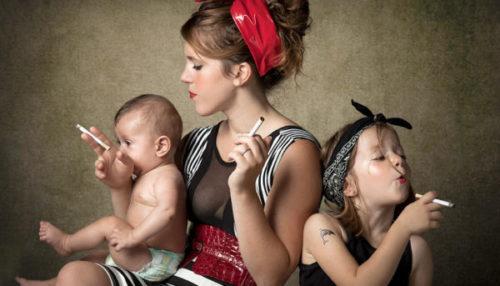 можно ли курить кормящей маме